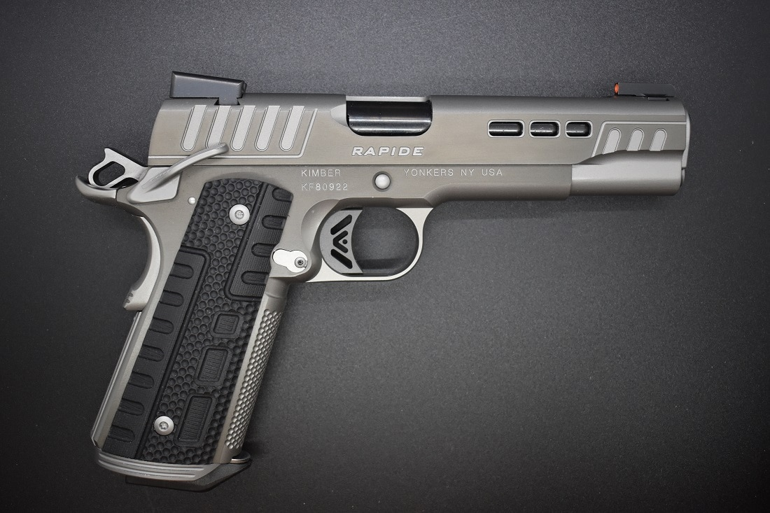 Besides the excellent factory trigger, a high cut under the trigger guard on the Rapide allows for higher grip access to better manage recoil.