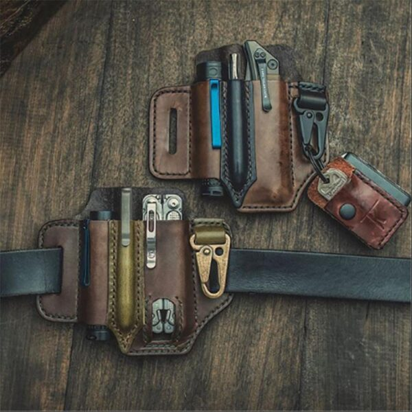 Leather EDC Multitool Belt Case